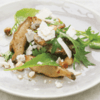 Roast Jerusalem artichoke, goat's cheese and hazelnut salad