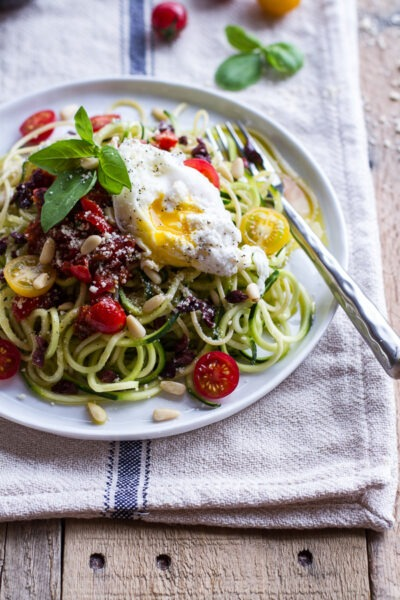 courgette-pasta-cherry-tomatoes