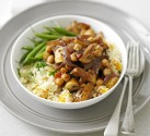 Moroccan mushrooms with cous cous