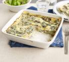 quick mushroom and spinach lasagne