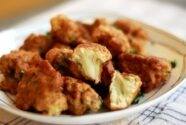 Breaded Cauliflower with Yoghurt Dip