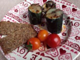 Courgette Logs with Chard & Carrot Filling