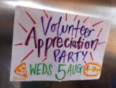 Volunteer Pizza Party – Wed 5th August, 4pm
