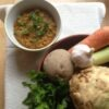 Green Lentil Dahl with Winter Roots