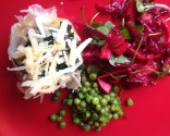 Stuffed Potatoes with Winter Greens and Beetroot Salad