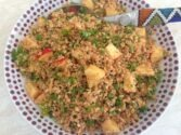 Cauliflower Couscous with Walnuts, Apples and Parsley