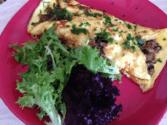 Broccoli, Mushroom and Walnut Omelette
