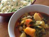 Squash & Pak Choi Curry with Cauliflower Rice