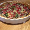Squash Quiche with Broccoli, Walnuts and Pomegranates