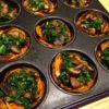 Sweet potato baskets with Kale and Mushrooms
